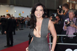 Daisy Lowe certainly drew in some glances with her plunging jumpsuit