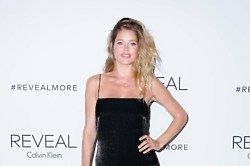 Doutzen Kroes at the Calvin Klein Reveal fragrance launch in New York