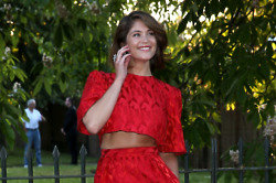 Gemma Arterton makes a statement in Prabal Gurung