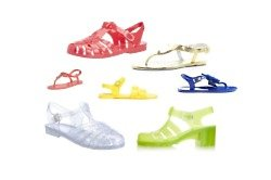 Jelly sandals are perfect for holiday