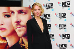 Jennifer Lawrence looks alluring in Dior