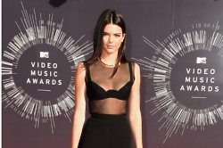 Kendall Jenner looks sexy in her sheer top jumpsuit