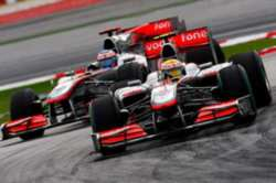 Jenson Button & Lewis Hamilton On Monza