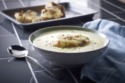 White Onion Soup with Cider and Cheddar
