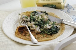 Healthy Recipes: Spinach and Mushroom Pancakes