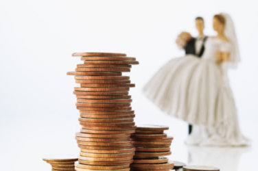 the average length of an engagement is about 1 month and with the cost of a wedding rising to 22000 from which has increased by 7000 in a decade