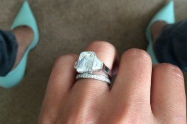 Cheryls wedding ring has doubled in value reminiscent of kim kardashians emerald cut choice following her recent wedding to rapper kanye west the ring junglespirit Images