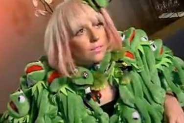 lady gaga kermit the frog dress