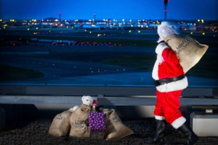 Santa arrives at Heathrow