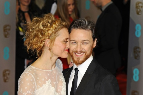 James McAvoy and Anne Marie Duff (Credit: Famous)