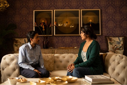 Ardash Gourav and Priyanka Chopra Jonas in The White Tiger / Picture Credit: Netflix