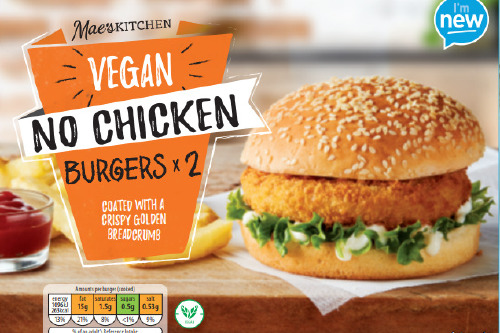 Aldi's Vegan No Chicken Burgers