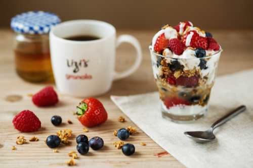 Vegan breakfast sundae