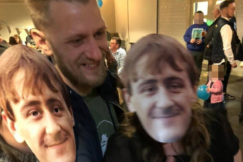 Paul with his Rodney masks (PA Real Life/Collect)