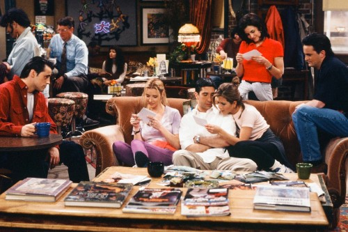 The Friends main cast credit NBC