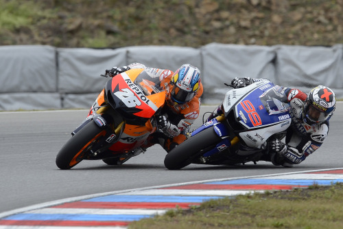 Lorenzo and Pedrosa