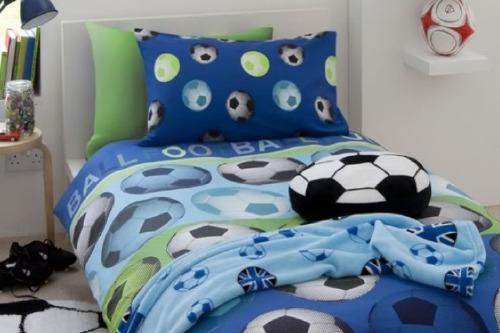 Kids football bedroom