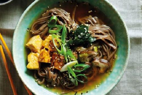 Miso Soba Noodles Soup