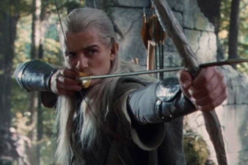 Orland Bloom Legolas in 'The Hobbit: The Desolation of Smaug'.