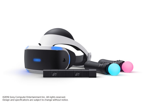 The Sony PlayStation VR Headset, Camera and Motion Controllers