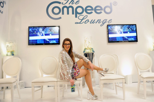 Poppy Dinsey in the Compeed Lounge