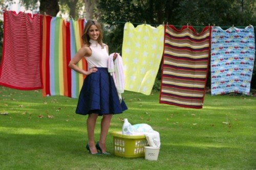 Rachel Stevens launches Dettol Baby Blanket Donation