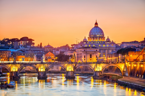 Rome is a popular destination for European city breaks.