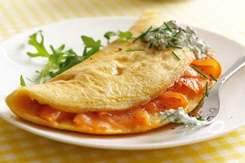 Smoked Salmon Omelette by James Martin