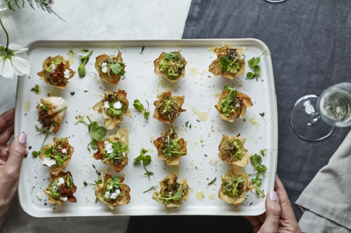Vegan canapes for How to make canape cases