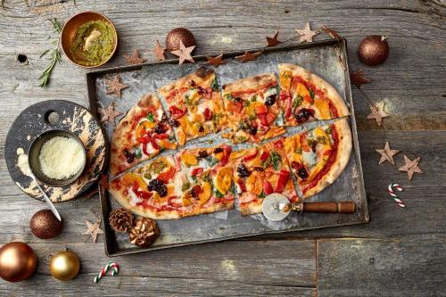 Vegan Festive Pizza