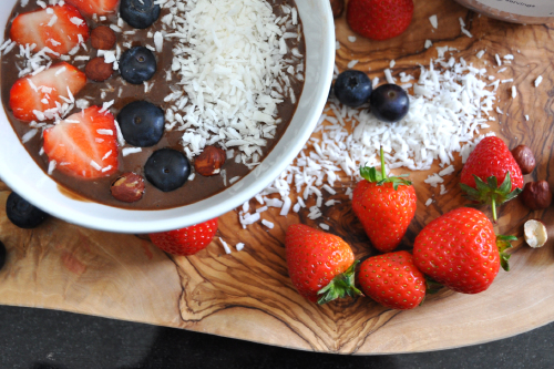 Vegan Mocha Protein Smoothie Bowl