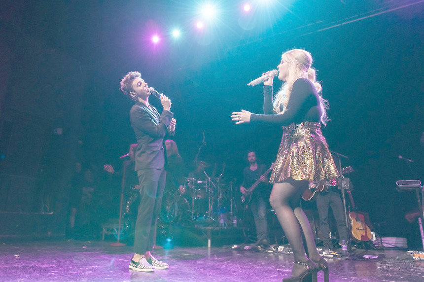 Nathan Sykes joins Meghan Trainor for a surprise duet in Birmingham