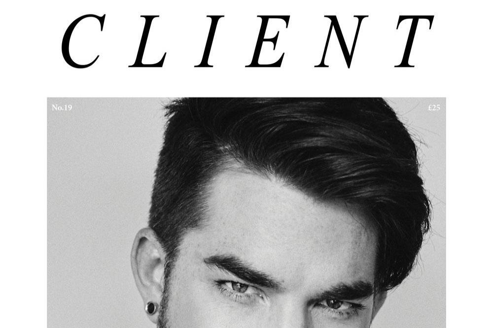 Adam Lambert in Client magazine