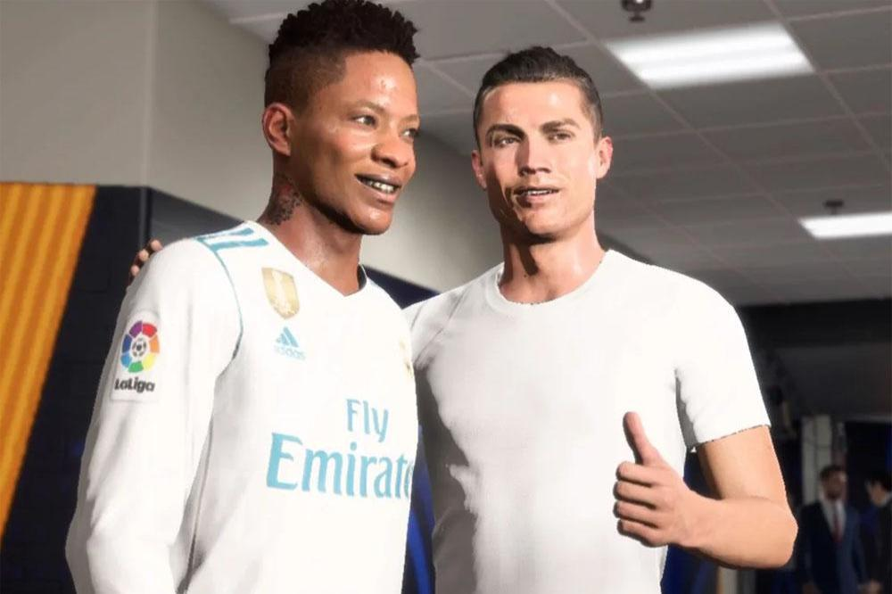 Alex Hunter with Ronaldo in The Journey