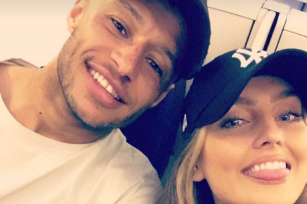 Alex Oxlade-Chamberlain and Perrie Edwards (c) Instagram Story