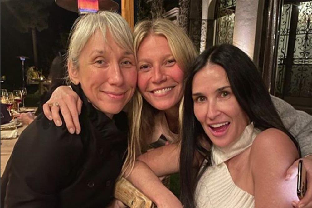 Alexandra Grant, Gwyneth Paltrow and Demi Moore (c) Instagra