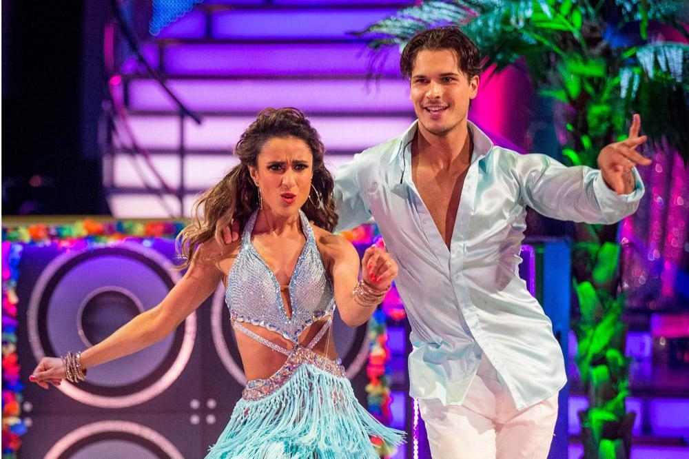 Gleb Savchenko and Anita Rani on Strictly Come Dancing in 2015