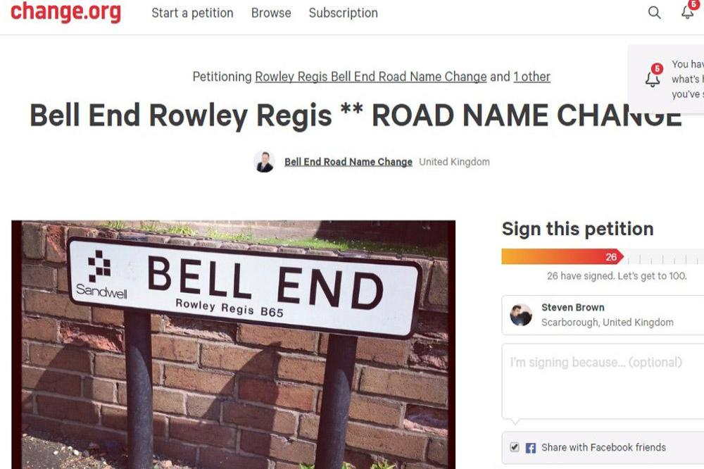 Bell End petition