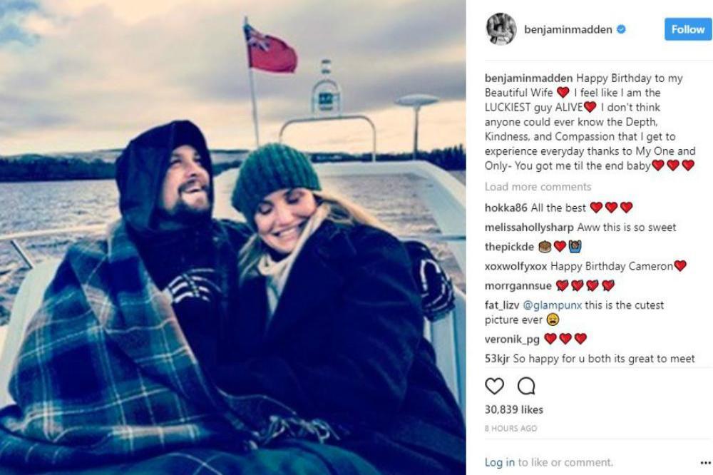Benji Madden and Cameron Diaz (c) Benji Madden/Instagram