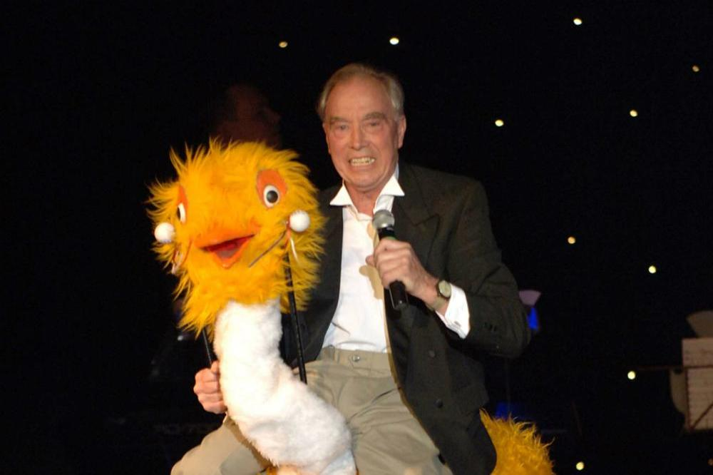 Bernie Clifton and Oswald The Ostrich
