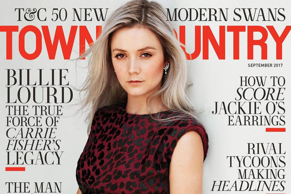Billie Lourd on the cover of Town and Country magazine