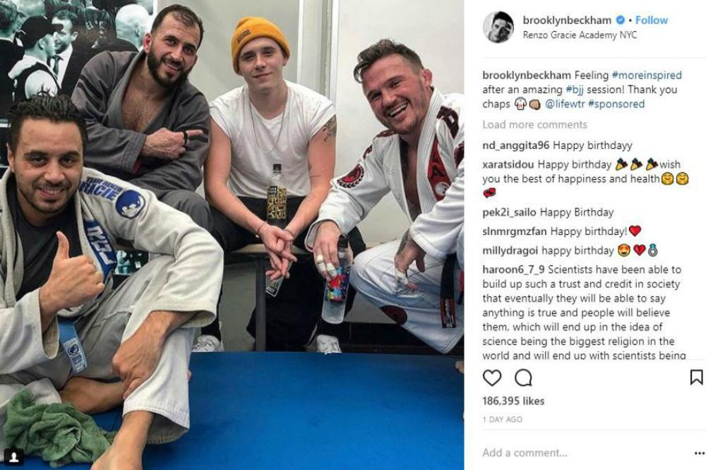 Brooklyn Beckham at the Renzo Gracie Academy NYC (c) Instagram/Brooklyn Beckham