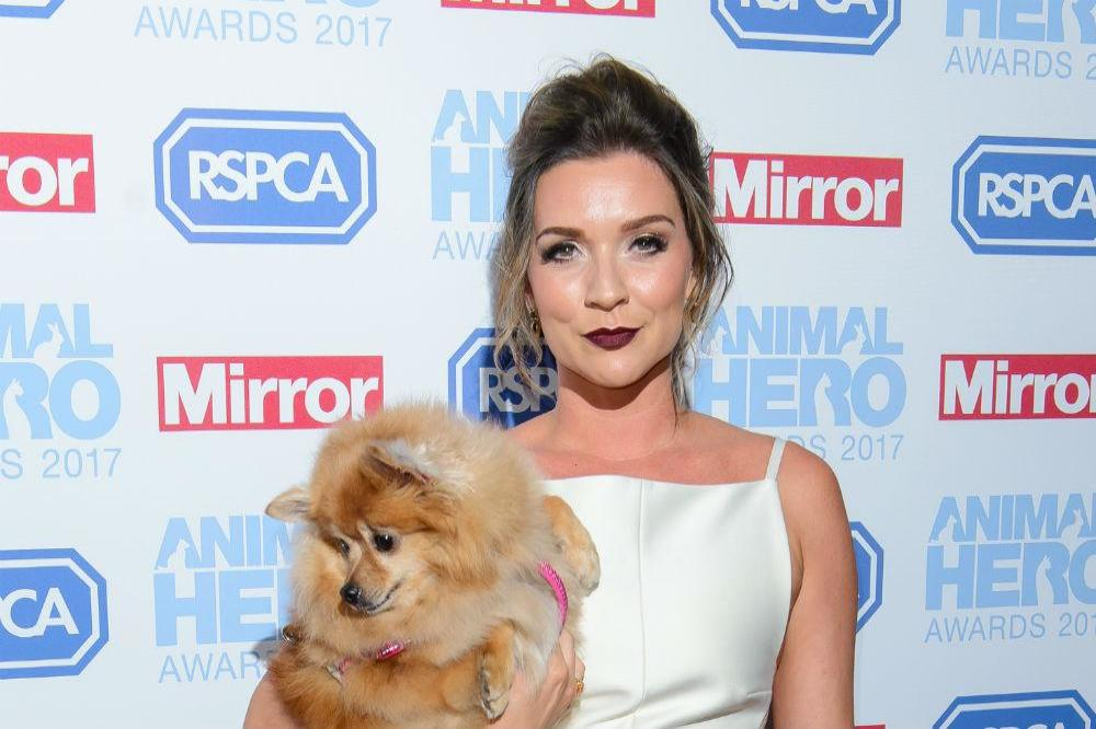 Candice Brown and Sybil at the Animal Hero Awards