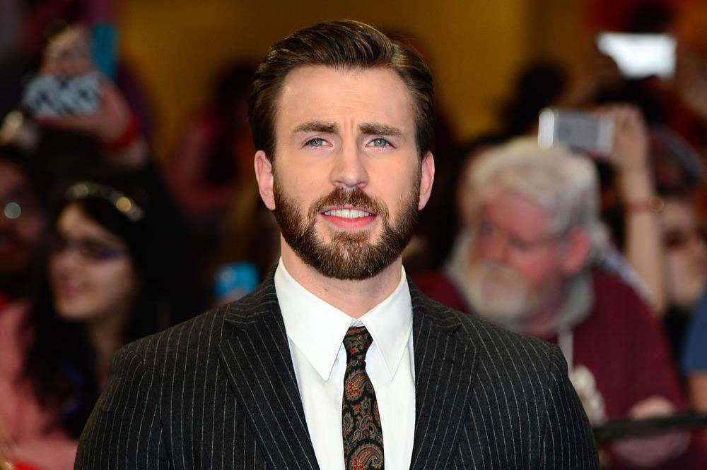 Chris Evans at the London premiere of Captain America: The Winter Soldier