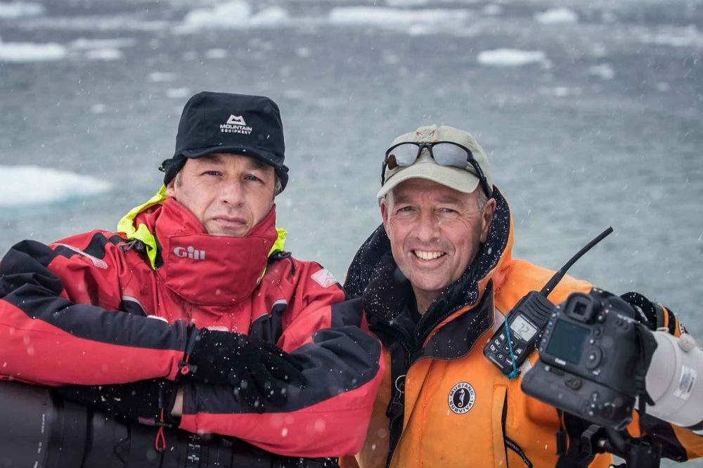 Chris Packham and Paul Goldstein