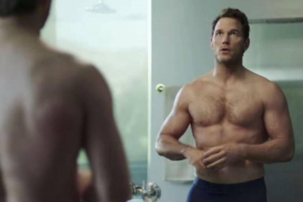 Chris Pratt topless in Michelob's new advert