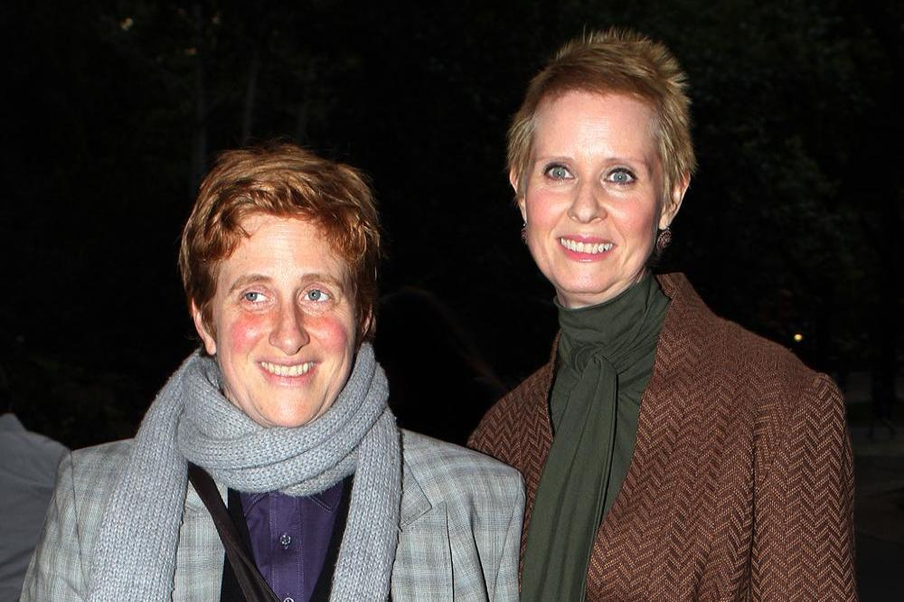 Christine Marinoni and Cynthia Nixon