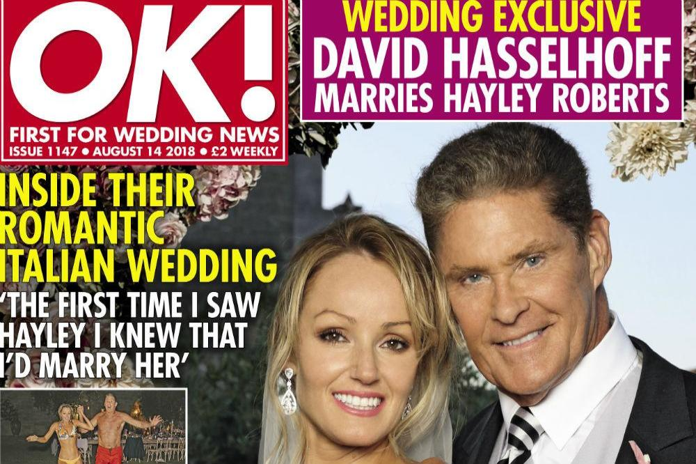 David Hasselhoff and Hayley Roberts in OK!