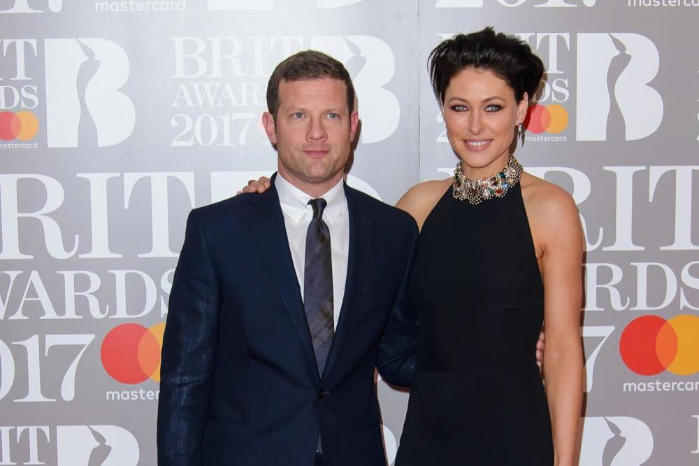 Dermot O'Leary and Emma Willis at the BRIT Awards
