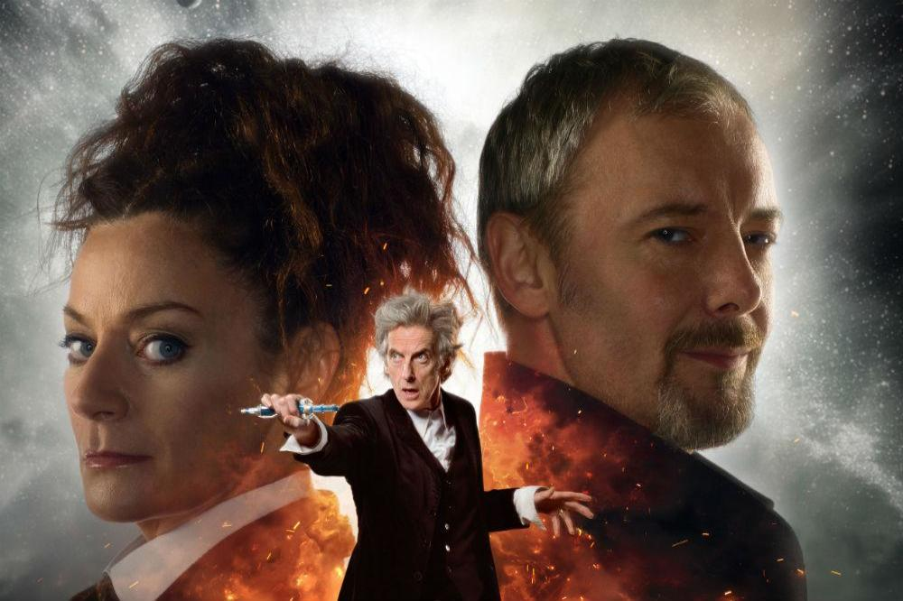 Michelle Gomez, John Simm and Peter Capaldi